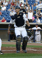 May 12, 2004:  Javier (Javi) Herrera of the Lake County Captains, Low-A South Atlantic League affiliate of the Cleveland Indians, during a game at Classic Park in Eastlake, OH.  Photo by:  Mike Janes/Four Seam Images