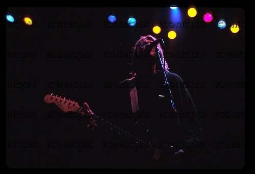 NIRVANA - Kurt Cobain performing live at The Palace as part of the 1991 Rock For Choice Fundraiser in Hollywood, CA USA - October 25, 1991. Photo © Kevin Estrada / Iconicpix  **PREMIUM COLLECTION**HIGHER RATES APPLY**