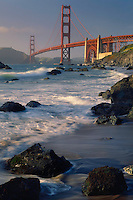 Golden Gate Bridge<br />   from Baker Beach<br /> Golden Gate National Recreation Area<br /> San Francisco,  California