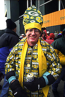 Green Bay Packers fan dressed as the Pope.