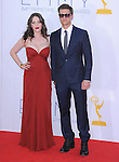 Kat Dennings and Nick Zano at The 64th Anual Primetime Emmy Awards held at Nokia Theatre L.A. Live in Los Angeles, California on September  23,2012                                                                   Copyright 2012 Hollywood Press Agency