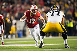 Wisconsin Badgers linebacker Andrew Van Ginkel (17) plays defense during an NCAA College Big Ten Conference football game against the Iowa Hawkeyes Saturday, November 11, 2017, in Madison, Wis. The Badgers won 38-14. (Photo by David Stluka)