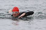 Tony Molloy finishes at the Green Buoy 1KM Swim in Clogherhead....(Photo credit should read Jenny Matthews/NEWSFILE)...