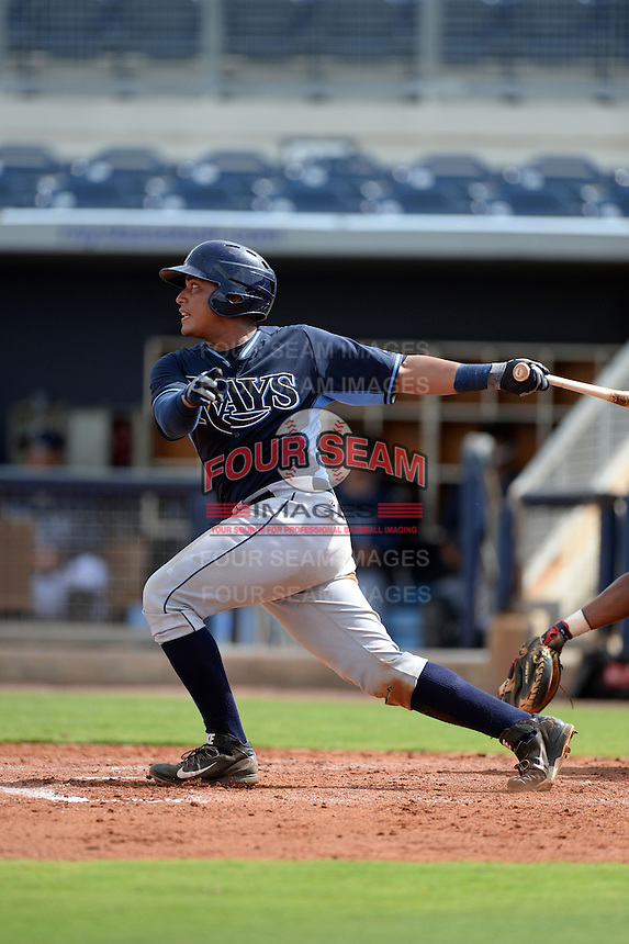 Tampa Bay Rays catcher David Rodriguez (68) during an Instructional League game against the Minnesota Twins on September 16, 2014 at Charlotte Sports Park in Port Charlotte, Florida.  (Mike Janes/Four Seam Images)