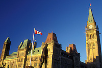 AJ0848, Canada, Ontario, Ottawa, Parliament Buildings on Parliament Hill in Ottawa.