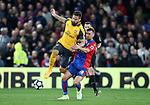 Crystal Palace's James McArthur tussles with Arsenal's Olivier Giroud during the Premier League match at Selhurst Park Stadium, London. Picture date: April 10th, 2017. Pic credit should read: David Klein/Sportimage