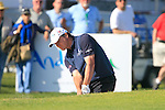 Paul Lawrie (SCO) chips out of a bunker at the 18th and final hole during the Final Day Sunday of the Open de Andalucia de Golf at Parador Golf Club Malaga 27th March 2011. (Photo Eoin Clarke/Golffile 2011)