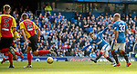 Andy Halliday strokes in the second goal for Rangers