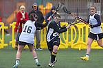 Santa Barbara, CA 02/19/11 - Ciara Looney (CSU Fullerton #16) and Kathryn Anderson (UC Santa Cruz #22) in action during the CSU Fullerton-UC Santa Cruz game at the 2011 Santa Barbara Shootout.