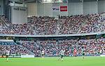 Stockholm 2014-07-28 Fotboll Superettan Hammarby IF - Assyriska FF :  <br /> Vy &ouml;ver Tele2 Arena under matchen mellan Hammarby och Assyriskas <br /> (Foto: Kenta J&ouml;nsson) Nyckelord:  Superettan Tele2 Arena Hammarby HIF Bajen Assyriska AFF supporter fans publik supporters inomhus interi&ouml;r interior