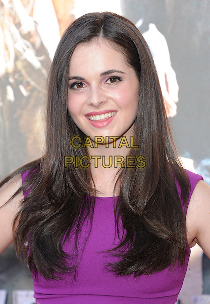 Vanessa Marano<br /> at The Disney World Film Premiere of 'The Lone Ranger' held at at Disney California Adventure in Anaheim, California, USA, <br /> June 22nd, 2013.<br /> portrait headshot purple sleeveless smiling <br /> CAP/DVS<br /> &copy;Debbie VanStory/Capital Pictures