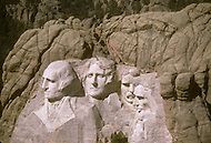Mount Rushmore National Memorial (US National Park) as documented on May 2nd, 1986 by photographer Jean Pierre Laffont as part of an assignment for the book 'A Day in the Life of America' published by Collins