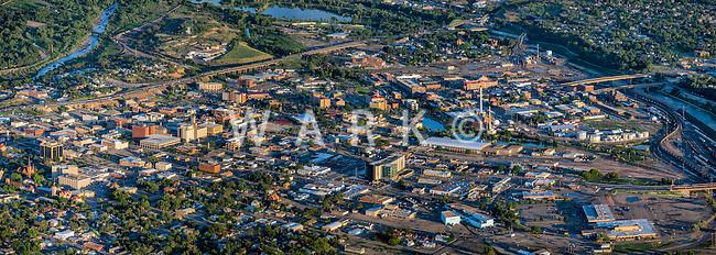 Pueblo, Colorado.  Downtown aerial panoramic