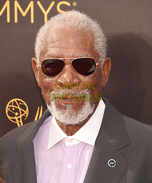 LOS ANGELES, CA - SEPTEMBER 11: Actor Morgan Freeman attends the 2016 Creative Arts Emmy Awards held at Microsoft Theater on September 11, 2016 in Los Angeles, California.<br /> CAP/ROT/TM<br /> &copy;TM/ROT/Capital Pictures