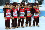 14/12/2019, Hochfilzen, Austria. Biathlon World Cup IBU 2019 Hochfilzen.<br /> Men 12.5 km pursuit race,  Squirrel mascots