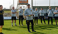 20190226 - LARNACA , CYPRUS :  Belgian head coach Ives Serneels  pictured during a Matchday -1 training from The Belgian Red Flames prior to their game against the women team of Slovakia , on Tuesday 26 February 2019 at the Alpha Sports Grounds in Larnaca , Cyprus . This will be the first game in group C for Belgium during the Cyprus Womens Cup 2019 , a prestigious women soccer tournament as a preparation on the European Championship 2021 qualification duels. PHOTO SPORTPIX.BE | DAVID CATRY