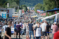quite a crowd at the finish area<br /> <br /> 2014 Tour de France<br /> stage 11: Besan&ccedil;on - Oyonnax (187km)