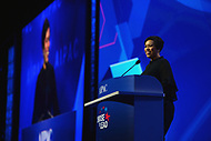 Washington, DC - March 4, 2018: Mayor Muriel Bowser of Washington, D.C. addresses attendees of the 2018 American Israel Public Affairs Committee (AIPAC) Public Policy Conference at the Washington Convention Center March 4, 2018.  (Photo by Don Baxter/Media Images International)