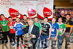 he Launch of the Garvey's Football Championship in Garvey's SuperValu,Tralee on Friday night at the launch were players from clubs around the county Thomas Ladden (Mid-Kerry), Mikey Geaney (Dingle), barry John Keane (KOR), Daniel Bohan (Austin Stacks) Damian Murphy (Miltown/Castlemaine), Darren wallace (Ardfert),Mike Frank Russell (Laune Rangers), KJ Griffin (Legion) and Eoin Brosnan (Dr Crokes). and  Tomás Garvey (Garvey Group), he Launch of the Garvey's Football Championship in Garvey's SuperValu,Tralee on Friday night at the launch were players from clubs around the county Thomas Ladden (Mid-Kerry), Mikey Geaney (Dingle), barry John Keane (KOR), Daniel Bohan (Austin Stacks) Damian Murphy (Miltown/Castlemaine), Darren wallace (Ardfert),Mike Frank Russell (Laune Rangers), KJ Griffin (Legion) and Eoin Brosnan (Dr Crokes). and  Tomás Garvey (Garvey Group),