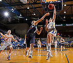BROOKINGS, SD - OCTOBER 30:  Rachel Walters #23 from South Dakota State University lays the ball up against Kahlie Peterson #3 from South Dakota School of Mines in the second half of their exhibition game Thursday night at Frost Arena in Brookings. (Photo by Dave Eggen/Inertia)