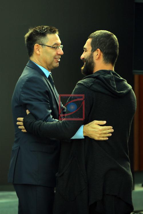 AUDI Premium Partner del FC Barcelona.<br /> Josep M. Bartomeu &amp; Arda Turan.