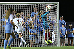 22 August 2014: Stanford's Jane Campbell catches the ball. The University of North Carolina Tar Heels hosted the Stanford University Cardinal at Fetzer Field in Chapel Hill, NC in a 2014 NCAA Division I Women's Soccer match. Stanford won the game 1-0 in sudden death overtime.