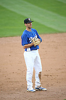 Michael Ahmed (12) of the Rancho Cucamonga Quakes during a game against the Lake Elsinore Storm at LoanMart Field on April 10, 2016 in Rancho Cucamonga, California. Lake Elsinore defeated Rancho Cucamonga, 7-6. (Larry Goren/Four Seam Images)