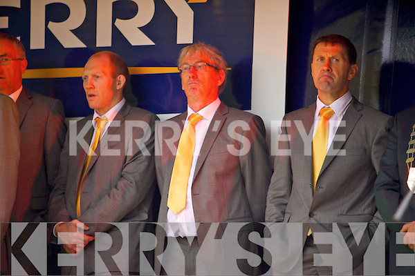 The Kerry Senior Football team arrive in Tralee on Monday evening after being defeated by Dublin in the All Ireland Final.
