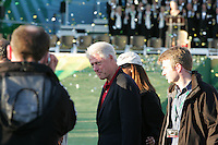 24th September, 2006. Retired American President Bill Clinton seen leavinf after the  closing ceremony of  the ryder cup after beating the American Team in the final day of the  Ryder Cup at the K Club in Straffan, County Kildare in the Republic of Ireland..Photo: Fran Caffrey/ Newsfile..