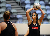 06.10.2014 Silver Fern Ameliaranne Wells in action at the Silver Ferns training ahead of the netball test match againt Australia in Melbourne. Mandatory Photo Credit ©Michael Bradley.