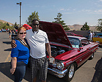 Teresa Jaimes and Lenard Curtis during the Hot August Nights Pre-Kickoff Party at the Bonanza Casino in Reno, Nevada on Sunday, August 6, 2017.