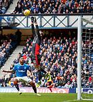 07.04.2018: Rangers v Dundee:<br /> Elliott Parrish saves from Alfredo Morelos