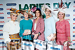 Aoibhne McElhinney, Jazziest Headpiece, Moira O'Toole, Most Iconic Lady, Siobhan Coakley from Gneeveguilla, Killarney, winner of  the McElligotts HONDA Best Dressed Lady, Niamh Doherty, Newmarket, 3rd and Joanne Foley, 2nd Glin on Ladies Day at Listowel Races on Friday. The winner received a prize of €3,000 and the use of a new Honda Civic for one year.