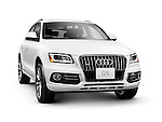 2014 Audi Q5 TDI Quattro SUV. Isolated car on white background with clipping path