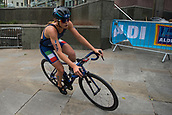 June 11th 2017, Leeds, Yorkshire, England; ITU World Triathlon Leeds 2017; Alice Betto competes in the cycling phase around Leeds city centre