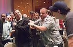 Blaise Ingoglia fouls around with Craig Stein, left, who survived a hand.
