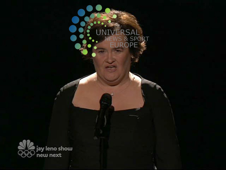 Susan Boyle wows 25 million viewers of America's Got Talent on her US TV debut on NBC..Susan Boyle the singer, who has gripped the US since arriving last weekend, performed the Rolling Stones' classic Wild Horses on America's Got Talent the final..Wearing an elegant black dress and accompanied by a full orchestra, Susan, 48, earned a standing ovation. .Picture: Universal News And Sport (Scotland) 17 September 2009..(Universal News does not claim any Copyright or License in the attached material. Any downloading fee charged by Universal News and Sport is for Universal News services only. We are advised that videograbs should not be used more than 48 hours after the time of original transmission, without the consent of the copyright holder)..
