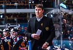 Stockholm 2014-02-24 Ishockey Hockeyallsvenskan Djurg&aring;rdens IF - S&ouml;dert&auml;lje SK :  <br /> Djurg&aring;rdens tr&auml;nare Hans S&auml;rkij&auml;rvi <br /> (Foto: Kenta J&ouml;nsson) Nyckelord:  portr&auml;tt portrait