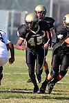 Palos Verdes, CA 10/20/11 - David Odusanya (Peninsula #45) in action during the Leuzinger vs Peninsula JV football game.