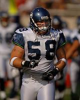Nov. 6, 2005; Tempe, AZ, USA; Linebacker (58) Isaiah Kacyvenski of the Seattle Seahawks against the Arizona Cardinals at Sun Devil Stadium. Mandatory Credit: Mark J. Rebilas