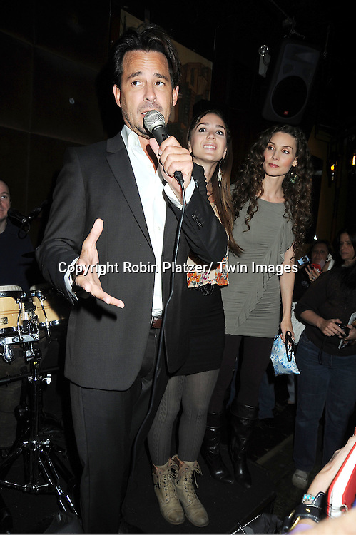 Ricky Paull Goldin, Christina B Lind and Alicia Minshew attending the Good Night Pine Valley Event co-hosted by All My Children actors Ricky Paull Goldin and Alicia Minshew on September 17, 2011 at Prohibition in New York City