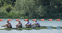 Caversham, Nr Reading, Berkshire.<br /> <br /> GBR M4-, left to right Constantine LOULOUDIS, George NASH, Mohammmed SBIHI and Alex GREGORY, Olympic Rowing Team Announcement morning training before the Press conference at the RRM. Henley.<br /> <br /> Thursday  09.06.2016<br /> <br /> [Mandatory Credit: Peter SPURRIER/Intersport Images]