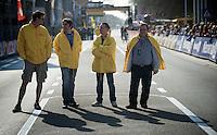 finishline 'security'..74th Gent-Wevelgem (2012).236km between Deinze & Wevelgem.winner 2012: Tom Boonen..