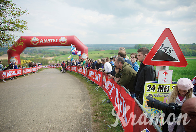 fans waiting for the riders up the Gulperberg (14% average)<br /> <br /> Amstel Gold Race 2014