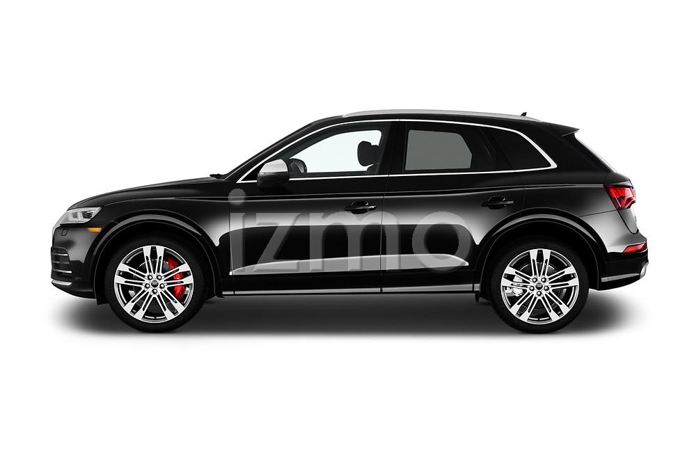 Car driver side profile view of a 2018 Audi SQ5 Premium Plus 5 Door SUV