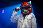 "© Joel Goodman - 07973 332324 . 04/07/2015 . Manchester , UK . Super Furry Animals perform at the Castlefield Bowl as part of the "" Summer in the City "" festival in Manchester. Photo credit : Joel Goodman"