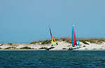 catamarans on beach