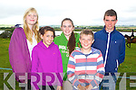 FUN: Having fun at the Blennerville Pony Show on Sunday l-r: Fionnuala Keane, Causeway, Rebecca Bambury and Clodagh Landy, Listowel, John Kennelly, Liselton and Brian O'Connor, Abbeyfeale.