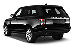 Car pictures of rear three quarter view of a 2019 Land Rover Range-Rover HSE 5 Door SUV angular rear