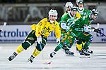 Stockholm 2013-12-03 Bandy Elitserien Hammarby IF - Ljusdals BK :  <br /> Ljusdal Oscar Jonsson i aktion under matchen<br /> (Foto: Kenta J&ouml;nsson) Nyckelord: